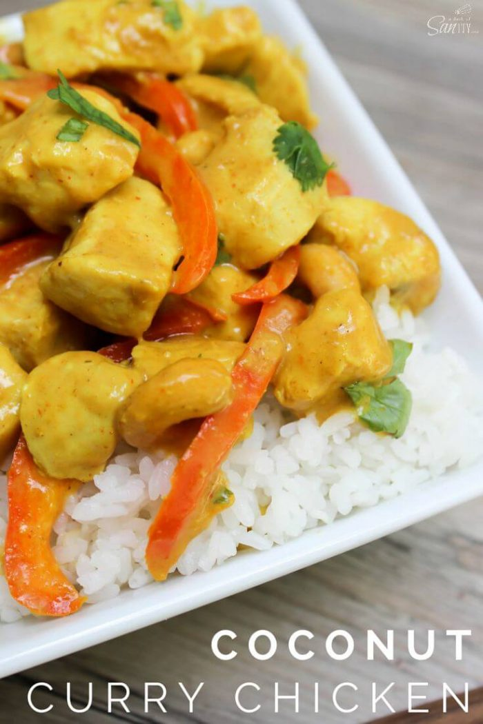 A Dash of Sanity - Coconut Curry Chicken