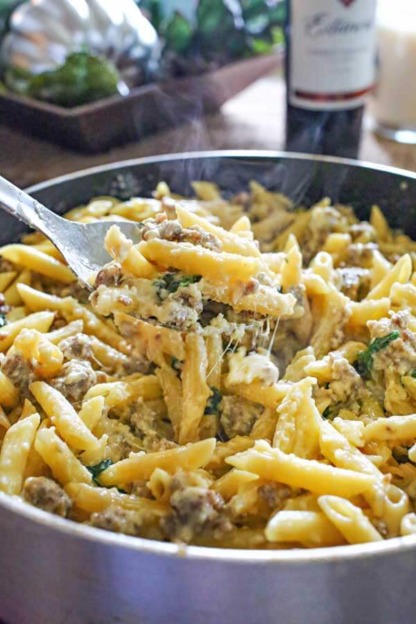 Kleinworth and Co - Spinach Sausage Alfredo