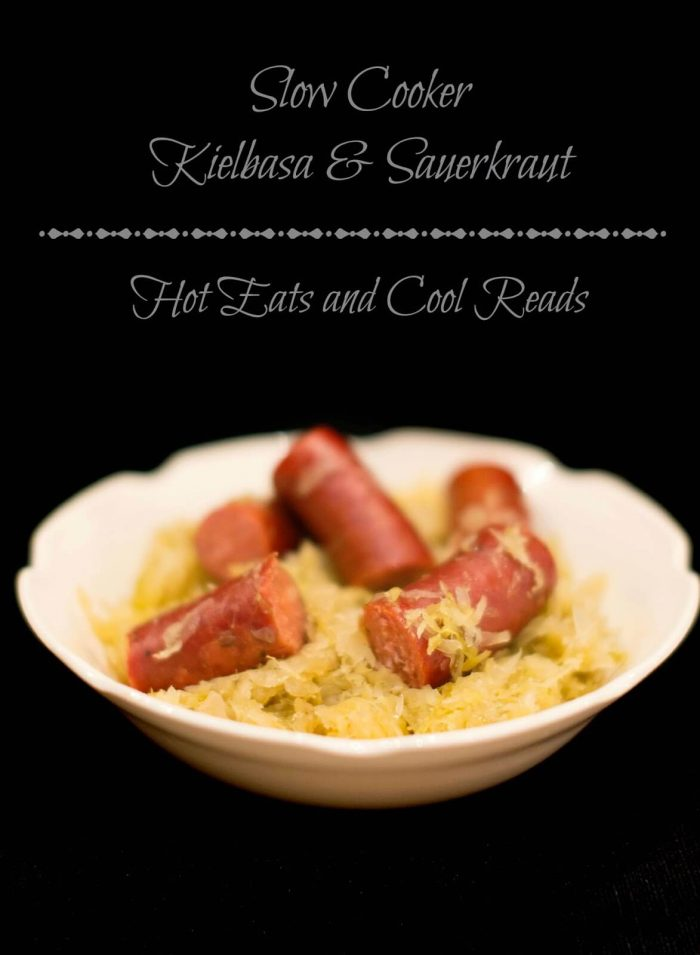 Slow Cooker Kielbasa and Sauerkraut via Hot Eats and Cool Reads