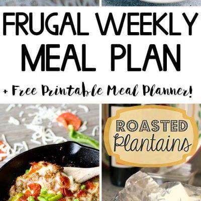 Frugal Weekly Meal Plan #2