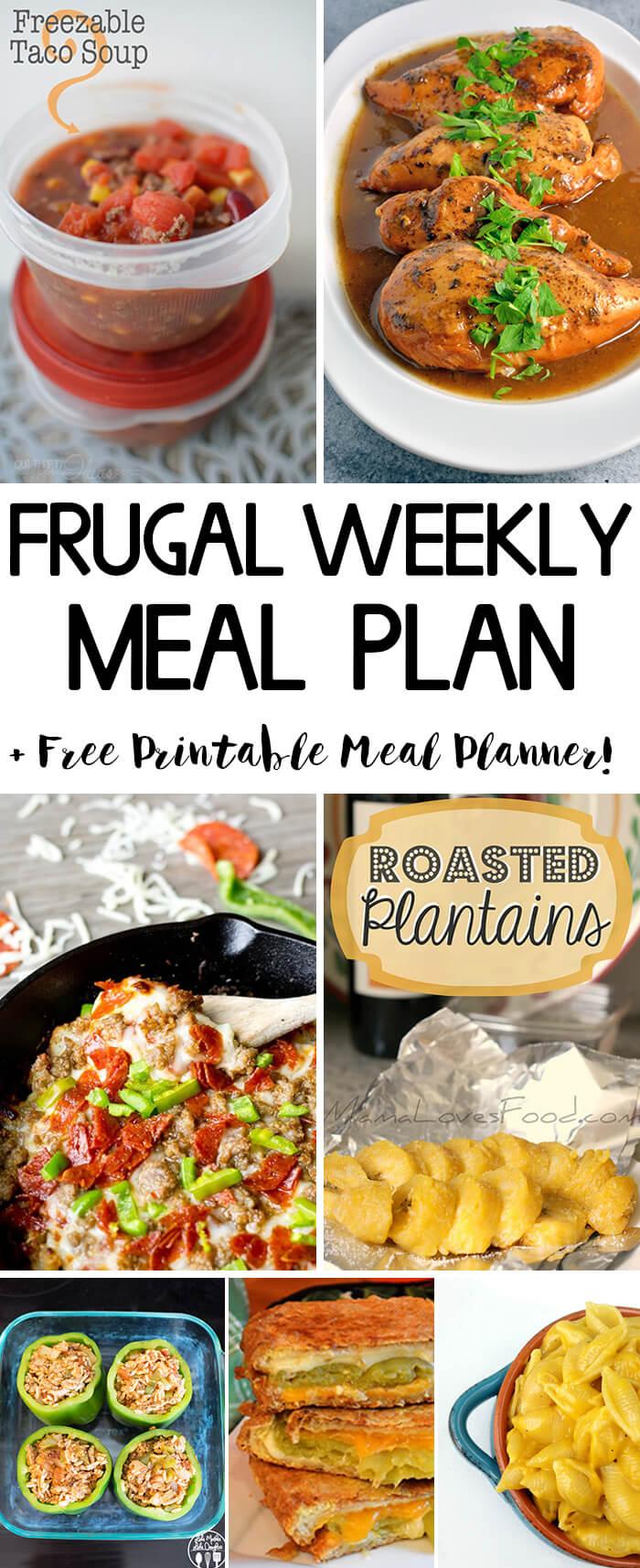Frugal Weekly Meal Plan #2 - Savor + Savvy