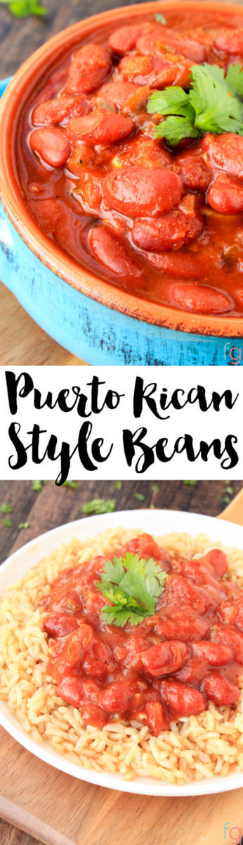 If you're a fan of Puerto Rican recipes, these Puerto Rican beans will become one of your favorite quick and easy dinner recipes!