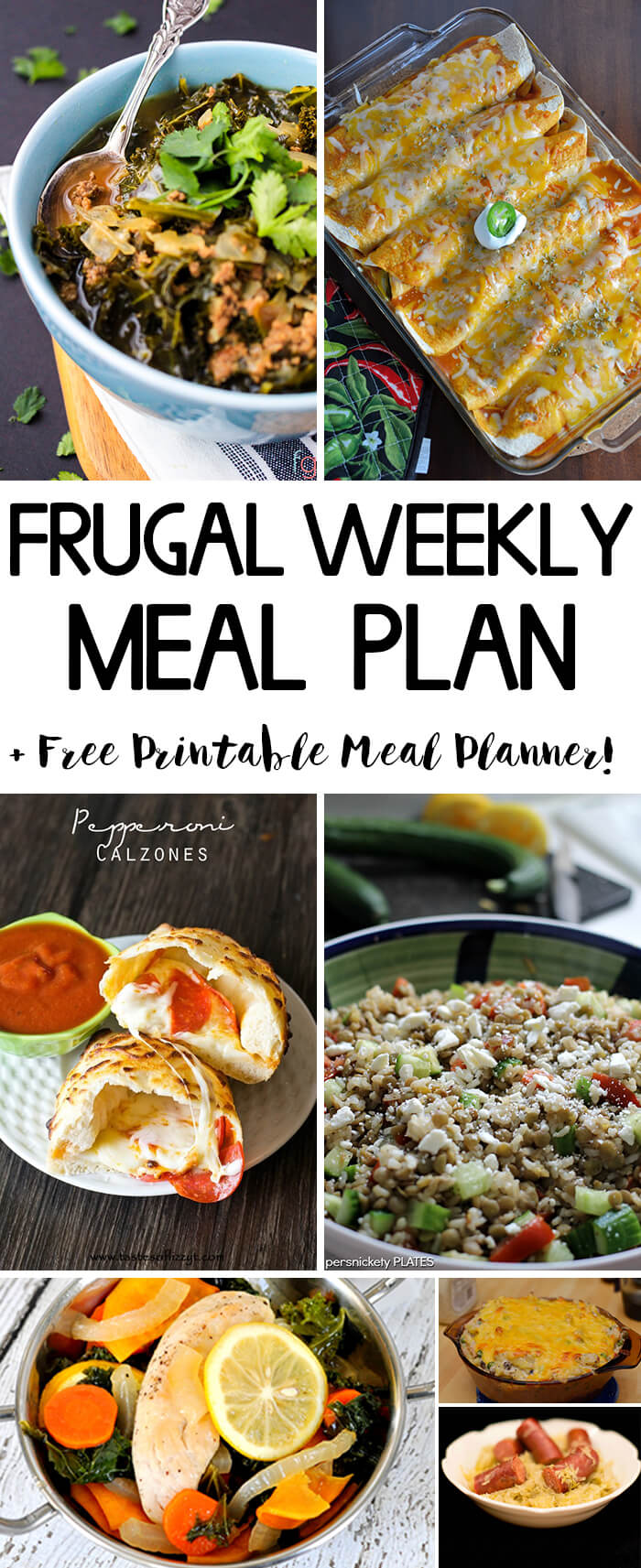 Frugal Weekly Meal Plan - Tasty and budget friendly dinner ideas to spice up your weeknight dinners.