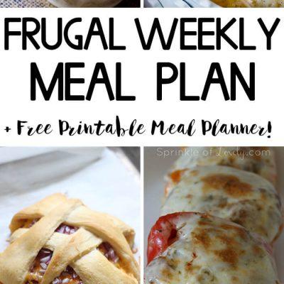 Frugal Weekly Meal Plan #3