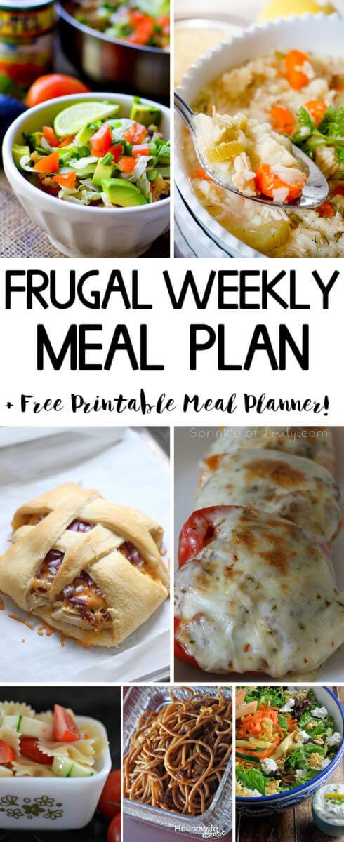 Frugal Weekly Meal Plan Week 3