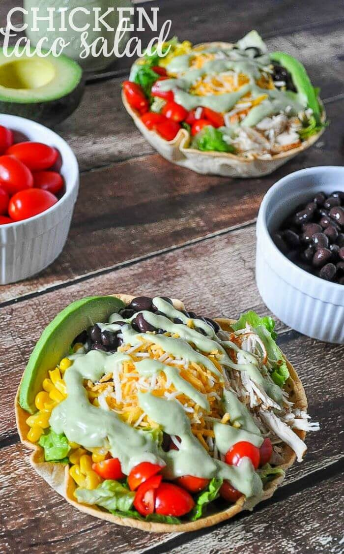 Chicken Taco Salad by The Love Nerds