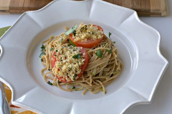 Tomato Parmesan Basil Pasta by Food Folks and Fun