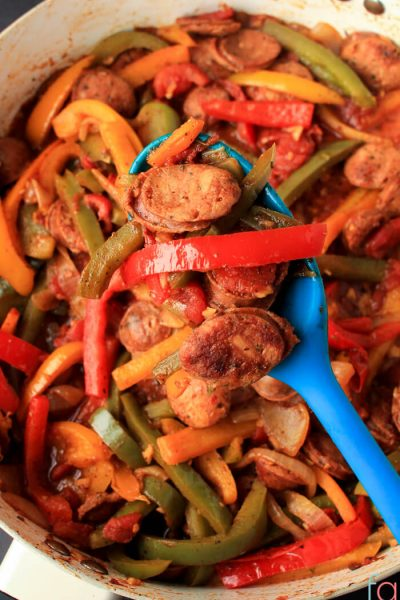 30 Minute Sausage and Pepper Skillet