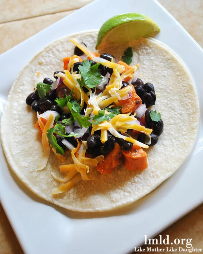 Black Bean Sweet Potato Tacos by LMLD