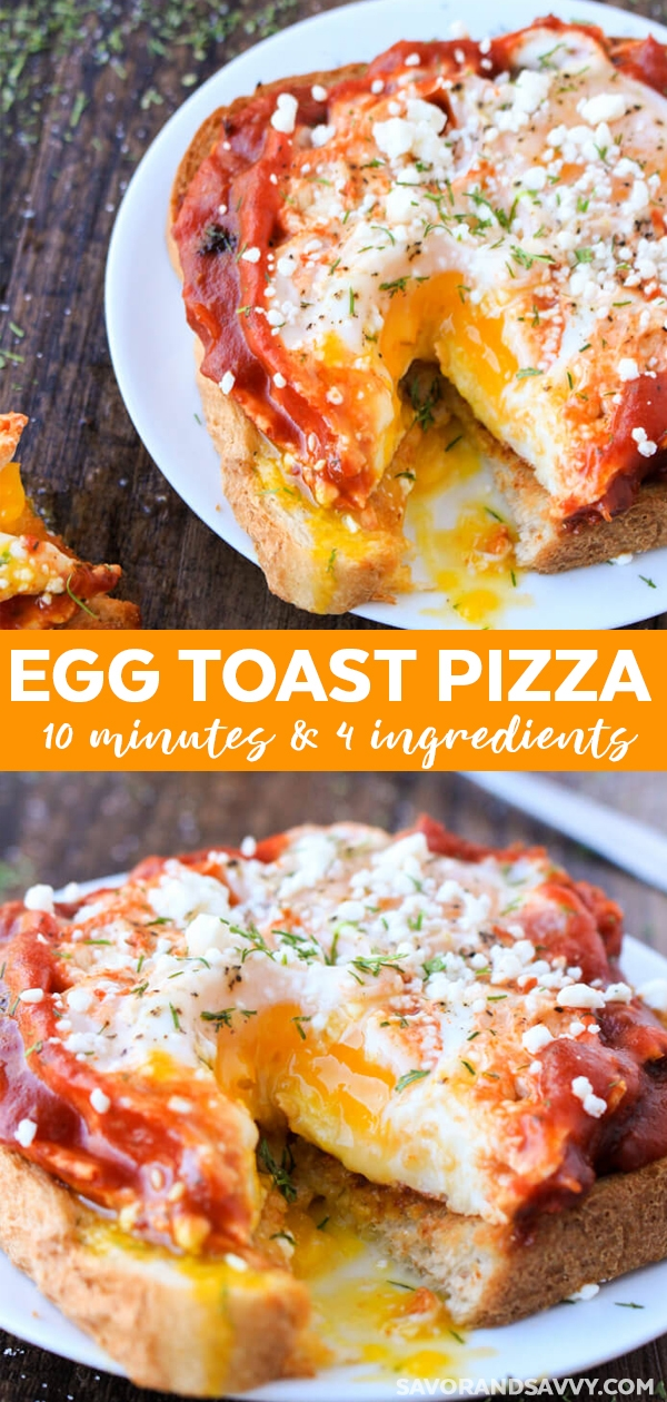 Egg Toast Pizza Individual Breakfast Pizzas