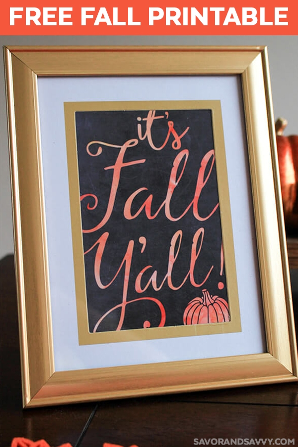 It's Fall Y'all Free Fall Printable