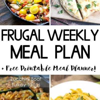 Frugal Weekly Meal Plan Wk 5