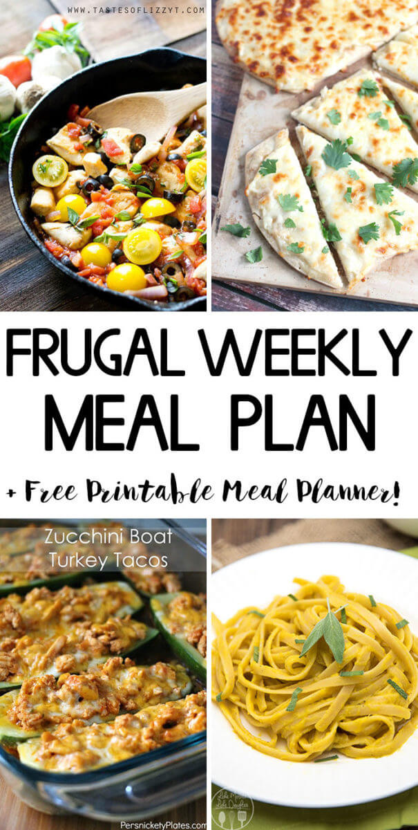 Frugal Weekly Meal Plan Week 5