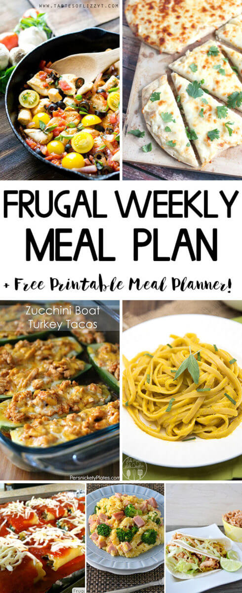 Frugal Weekly Meal Plan Week 5