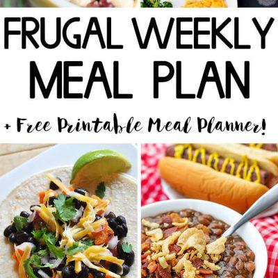 Frugal Weekly Meal Plan #6