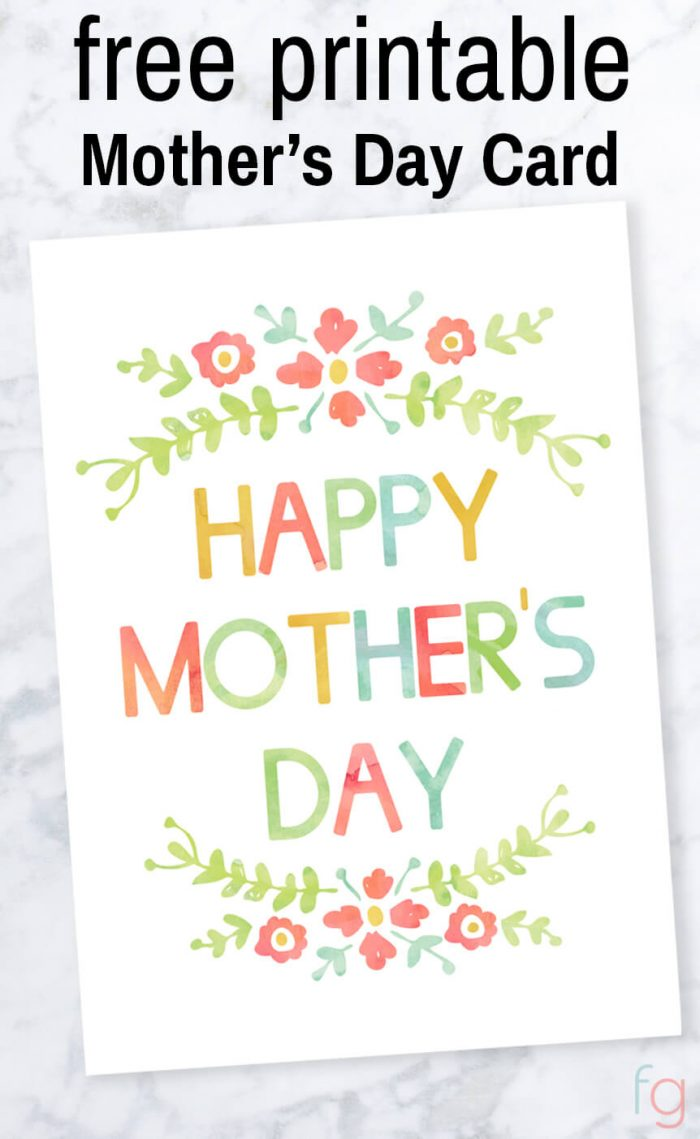 photograph regarding Printable Mothers Day Pictures identified as Moms Working day Card - No cost Printable
