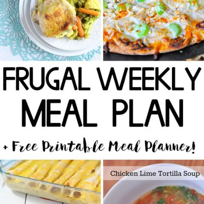 Frugal Weekly Meal Plan Wk 8
