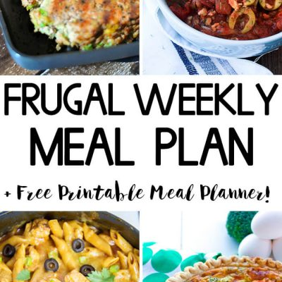 Frugal Weekly Meal Plan Wk 9