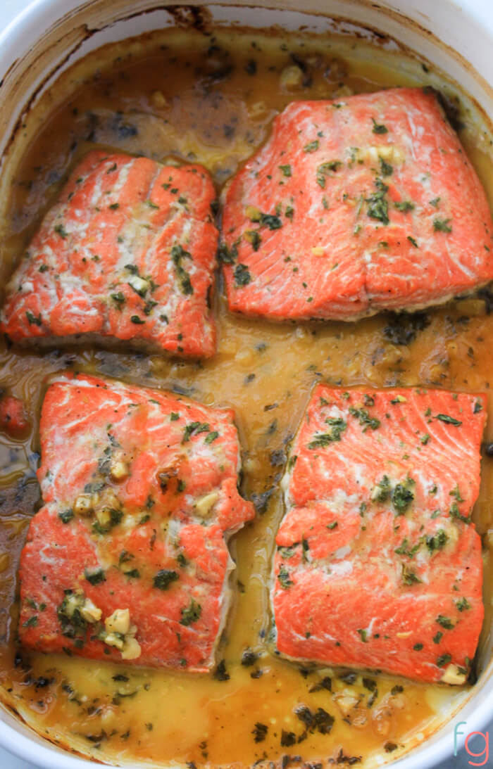 Honey Dijon Baked Salmon Recipe {WW 3 Purple, 3 Blue, 9 Green, Keto, Paleo, Whole 30, Gluten Free}