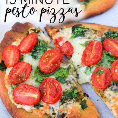 15 Minute Personal Pesto Pizza