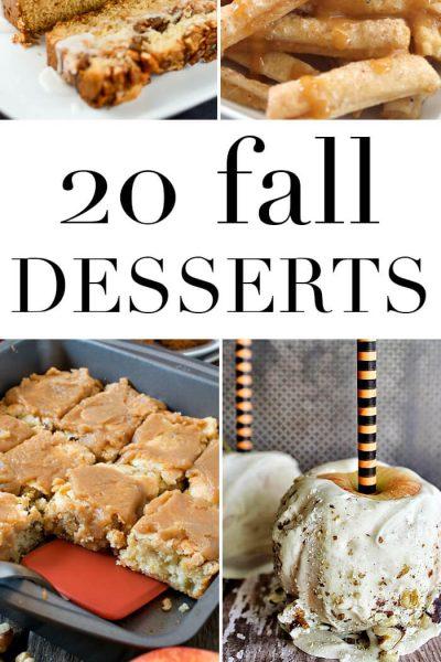 20 Fall Dessert Recipes