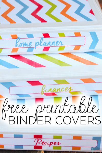 Free Printable Binder Covers