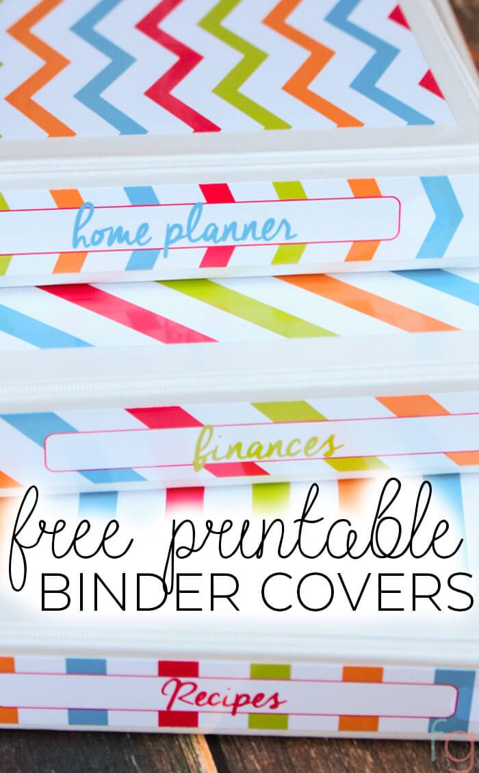 Free Printable Binder Covers - Frugality Gal