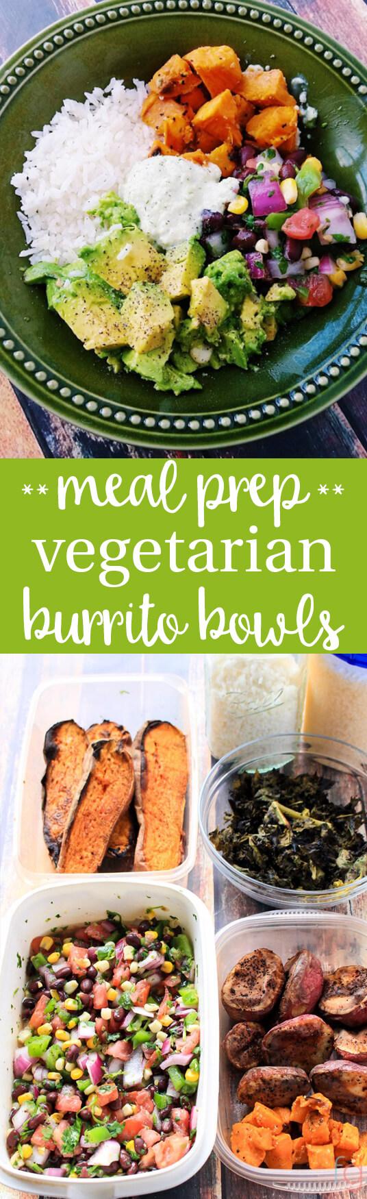 Weekly Meal Prep: Veggie Burrito Bowls - Frugality Gal