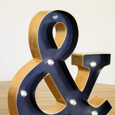 DIY Gold Marquee Letters