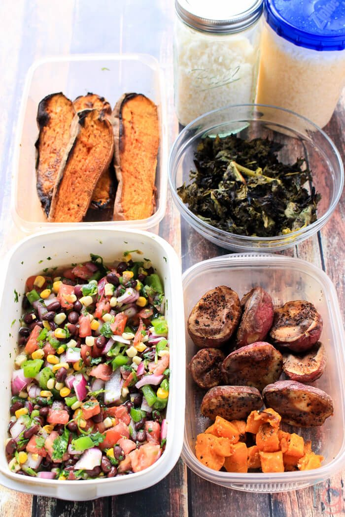 Meal Prep Ideas | Make Ahead Meals | Make Ahead Lunches for Work | Prep Ahead Meals | Vegetarian Meals Easy