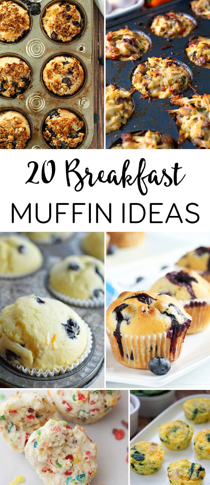 20 Breakfast Muffin Recipes to help you start your week!