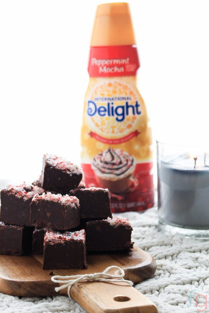 Easy Microwave Peppermint Fudge Recipe - Perfect for the holidays!