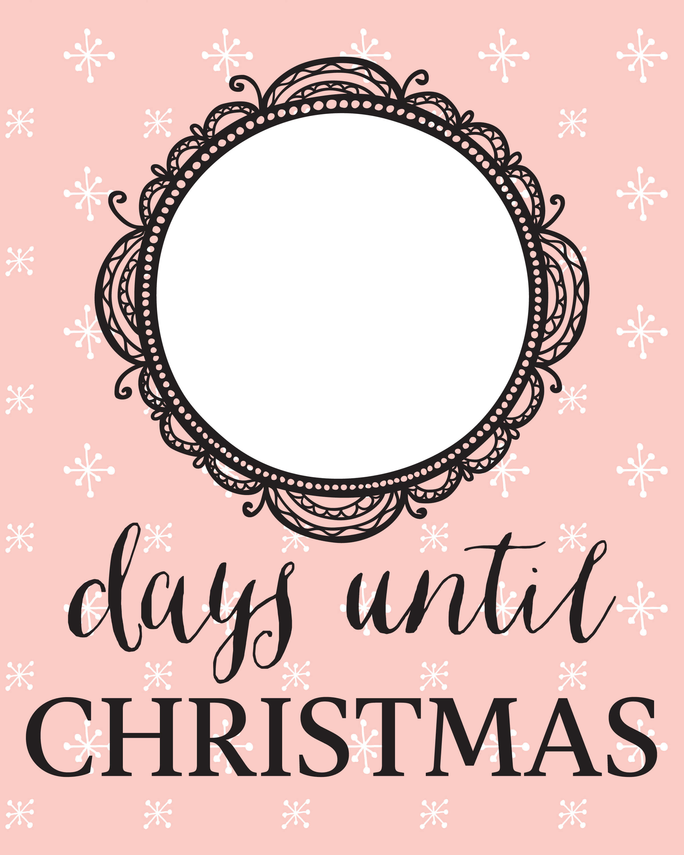 Days Until Christmas Printable.Free Christmas Countdown Printable For The Holidays