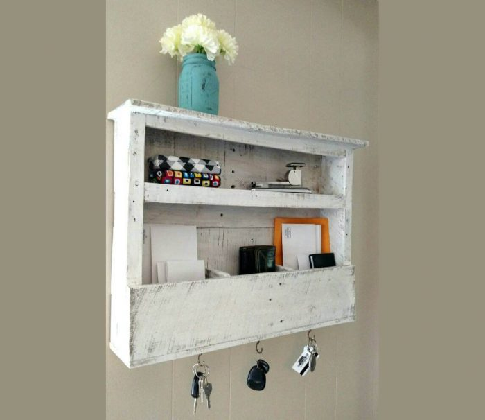 This rustic Entryway Organizer from Willow Park Workshop keeps clutter off of your counters.