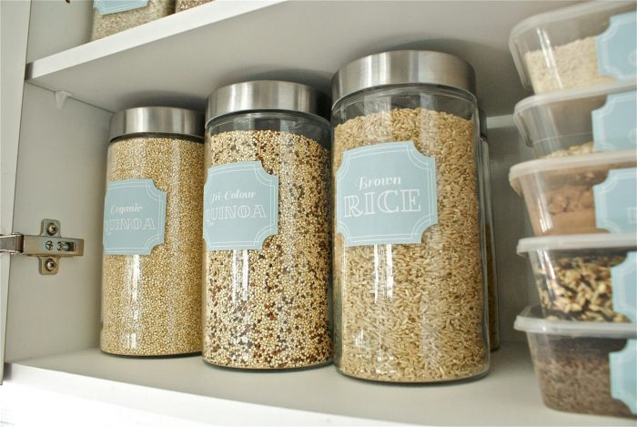This set of 48 Printable Pantry Labels from The Paper Society will help you organize the pantry in a pretty way.