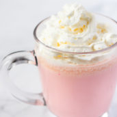 Quick and Easy Valentine's Day Drink - Pink Velvet Hot Chocolate Recipe.