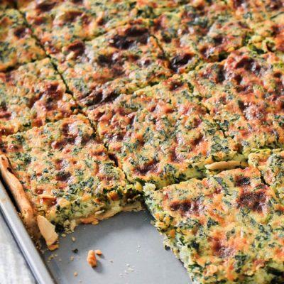 Spinach and Ricotta Savory Slab Pie