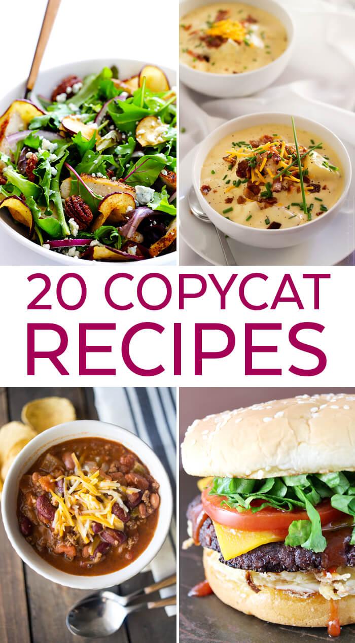 20 Restaurant Copycat Recipes | Copycat Restaurant Recipes | Dinner Recipes | Dinner Ideas | Recipes for Dinner