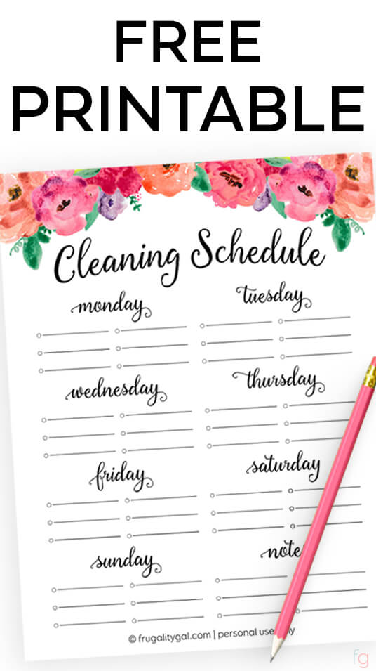 graphic about Cleaning List Printable identified as Totally free Cleansing Agenda Printable Cleansing Record