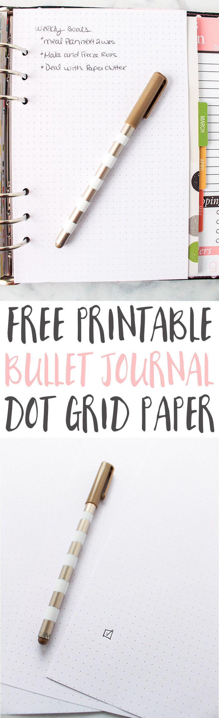 Dot Grid Paper Printable for Bullet Journaling
