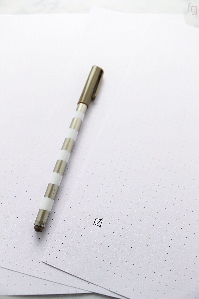 photograph about Printable Bullet Journal Paper identified as Dot Grid Paper Printable - Cost-free Bullet Magazine Web page