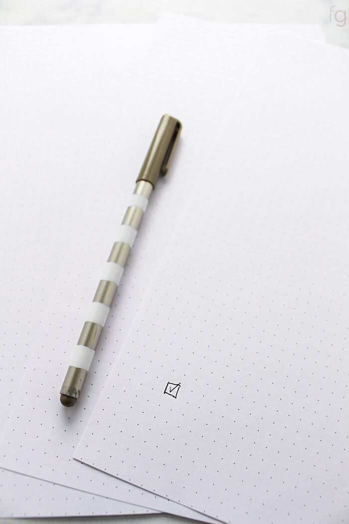 Bullet Journal Ideas | Bullet Journaling | Bullet Journal Printables | Bullet Journal Layout | Planner Ideas | Dot Grid Paper Printable