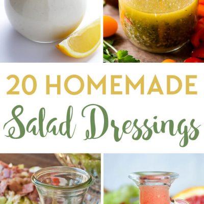 20 Homemade Salad Dressing Recipes