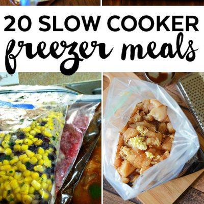 20 Slow Cooker Freezer Meals