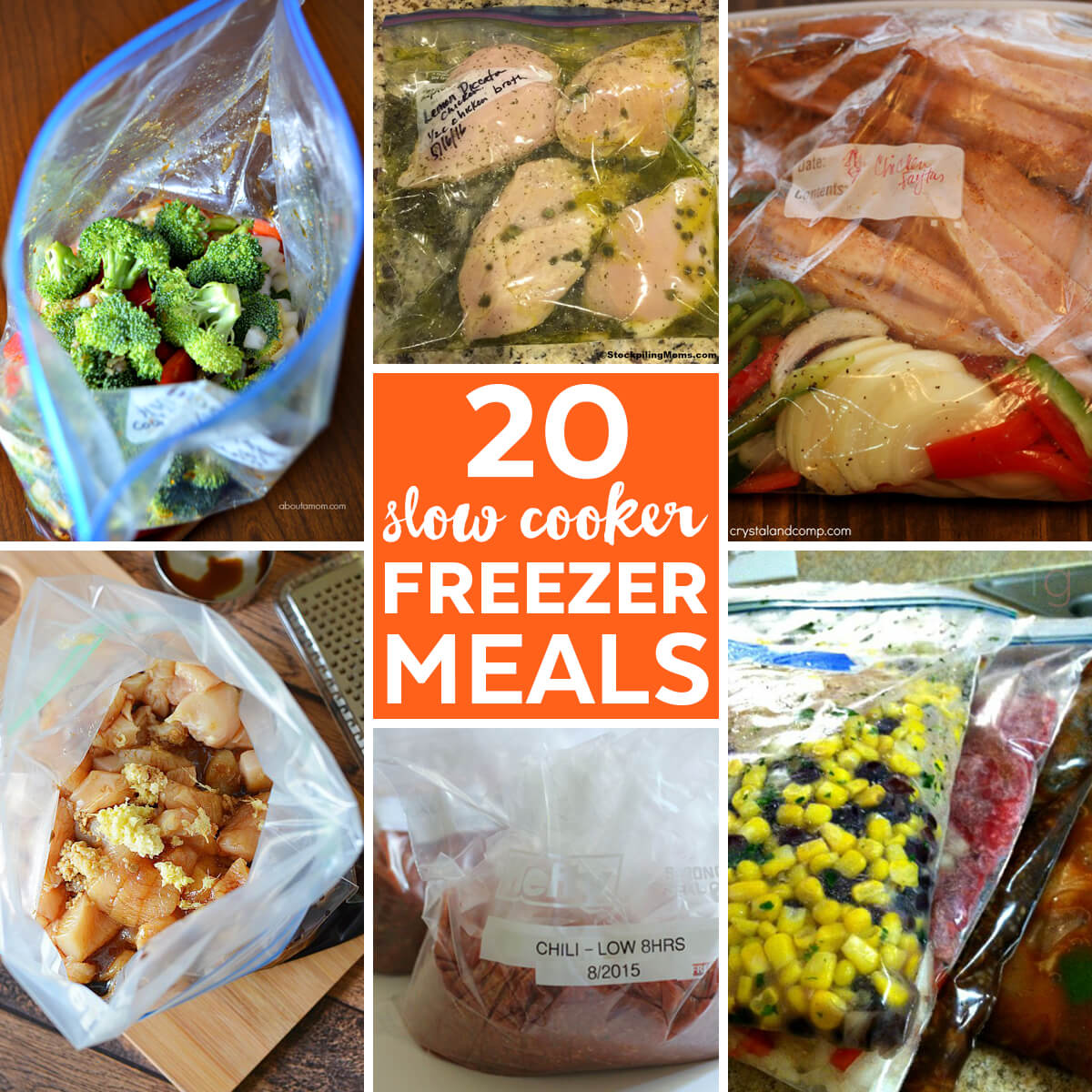 Slow Cooker Freezer Meals for New Moms | Freezer Crockpot Meals | Make Ahead Meals Slow Cooker Recipes | Freezer Cooking Recipes | Make Ahead Freezer Meals | Crock Pot Freezer Meals