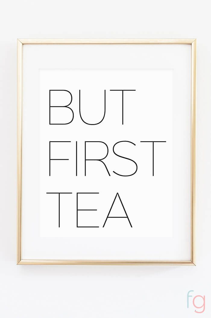 but first, tea kitchen wall art