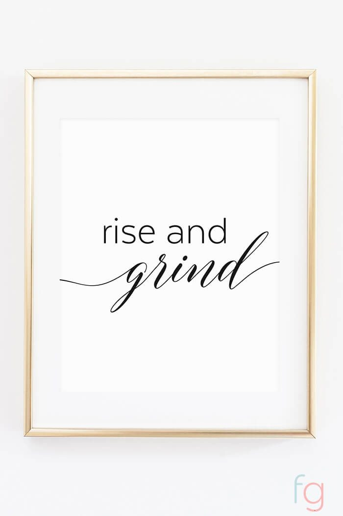 rise and grind coffee printable