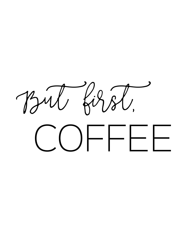 Free Printable Coffee Quotes: Free Printable Kitchen Wall Art