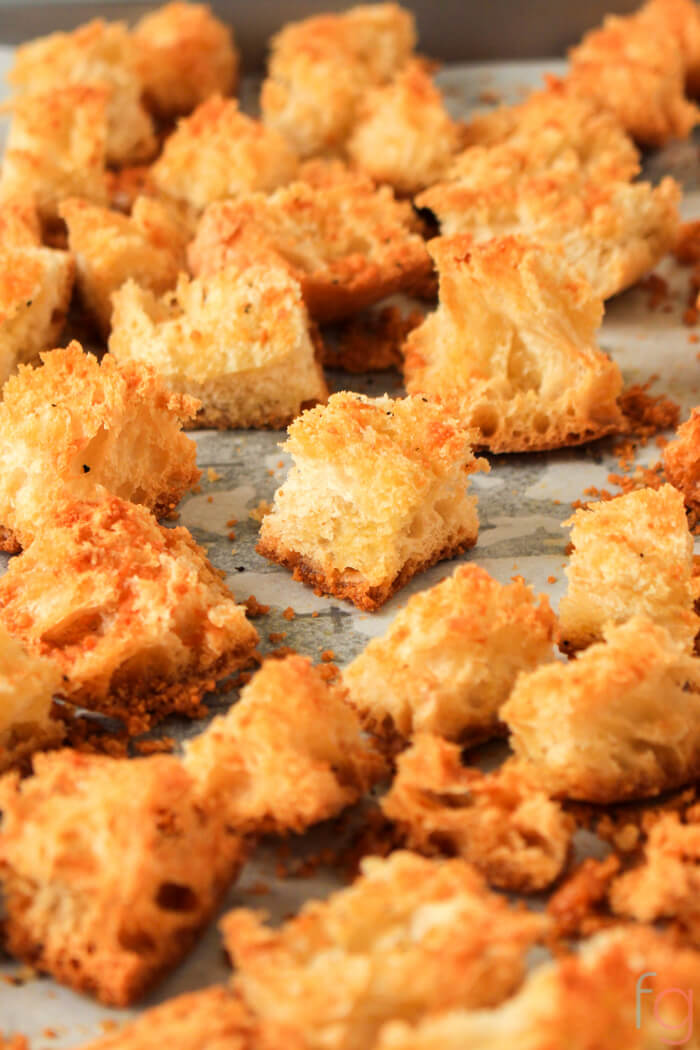 Homemade Croutons Recipe - How to Make Croutons Homemade Croutons Easy - Ciabatta Bread Croutons - Italian Recipes Easy - Simple Croutons from Bread - Homemade Staples