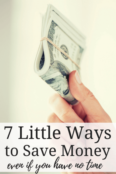 7 Little Ways to Save Money